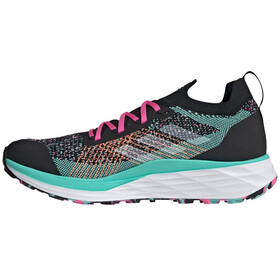adidas TERREX Two Parley Trail Running Shoes Men, core black/feather white/acid mint